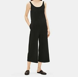 Eileen Fisher Jersey Wide Leg Jumpsuit in Black